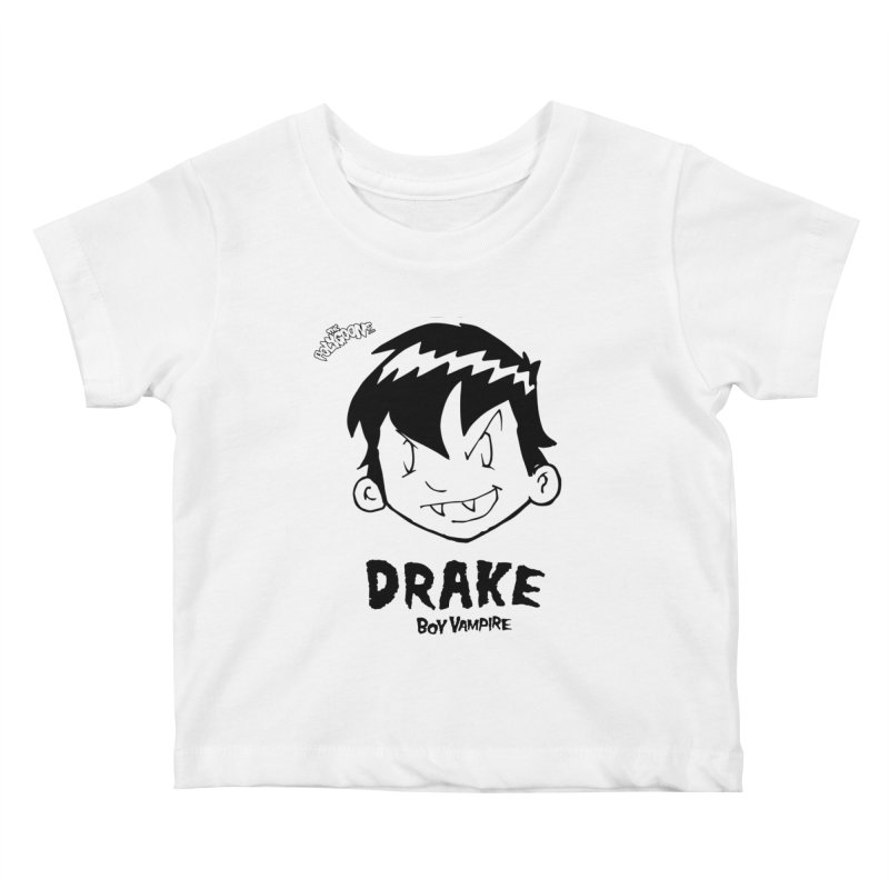 Drake - Boy Vampire  Kids Baby T-Shirt by The Polygoons' Shop