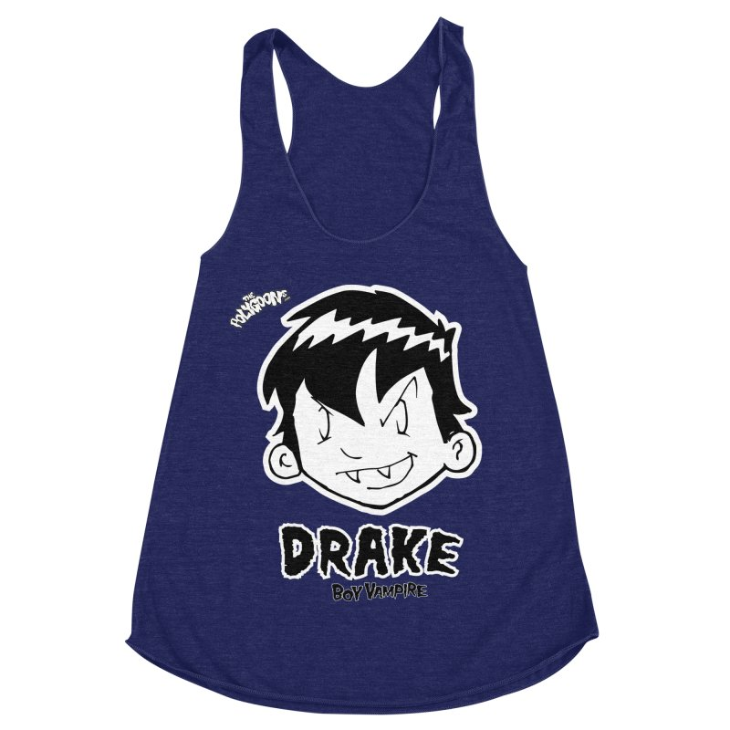 Drake - Boy Vampire  Women's Racerback Triblend Tank by The Polygoons' Shop