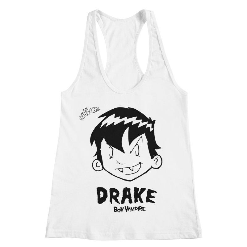 Drake - Boy Vampire  Women's Racerback Tank by The Polygoons' Shop