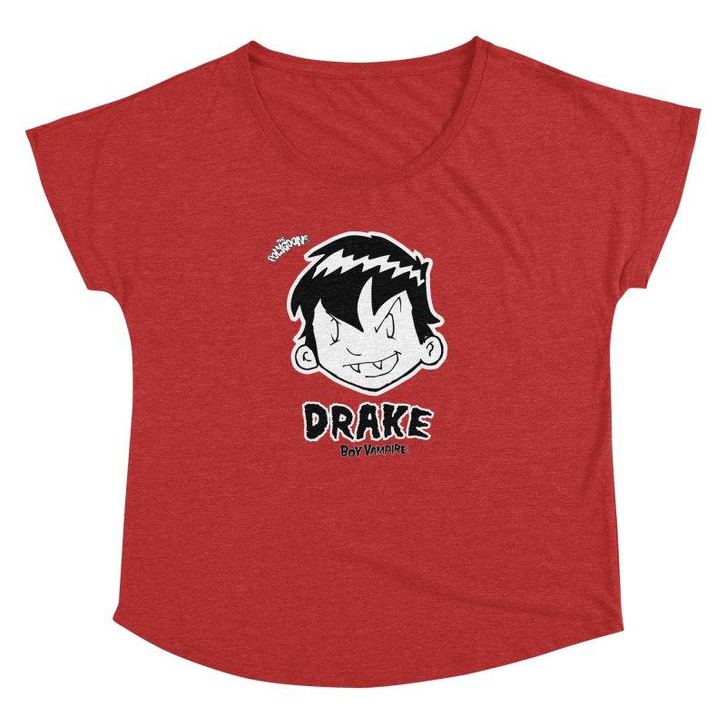 Drake - Boy Vampire  Women's Dolman Scoop Neck by The Polygoons' Shop