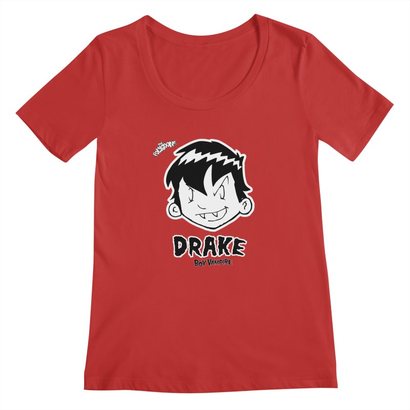 Drake - Boy Vampire  Women's Regular Scoop Neck by The Polygoons' Shop