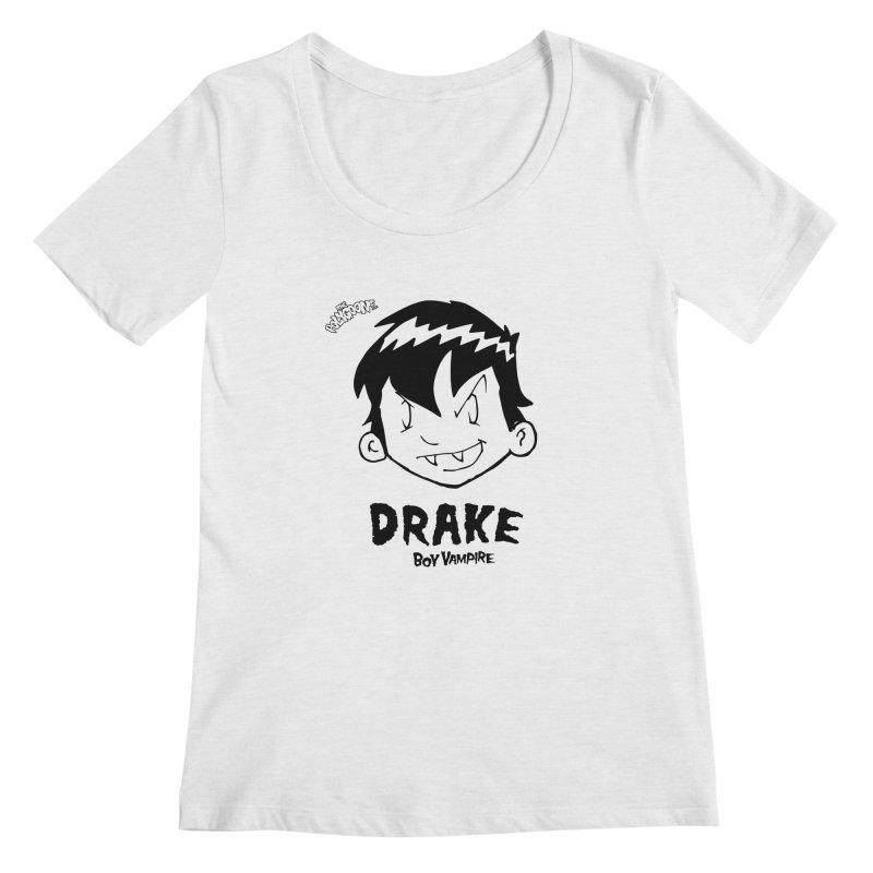 Drake - Boy Vampire  Women's Regular Scoop Neck by The Polygoons' Shop