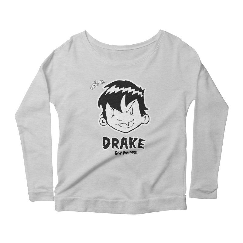 Drake - Boy Vampire  Women's Scoop Neck Longsleeve T-Shirt by The Polygoons' Shop