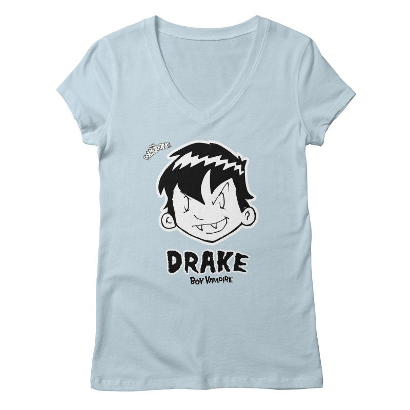 Drake - Boy Vampire  Women's Regular V-Neck by The Polygoons' Shop