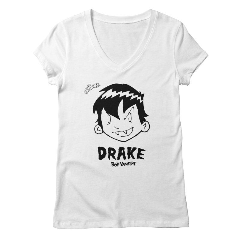 Drake - Boy Vampire  Women's Regular V-Neck by The Polygoons' Shop