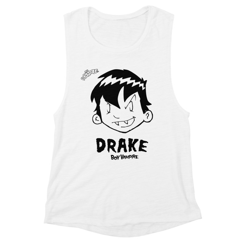 Drake - Boy Vampire  Women's Muscle Tank by The Polygoons' Shop
