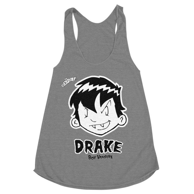Drake - Boy Vampire  Women's Racerback Triblend Tank by The Polygoons' Shop
