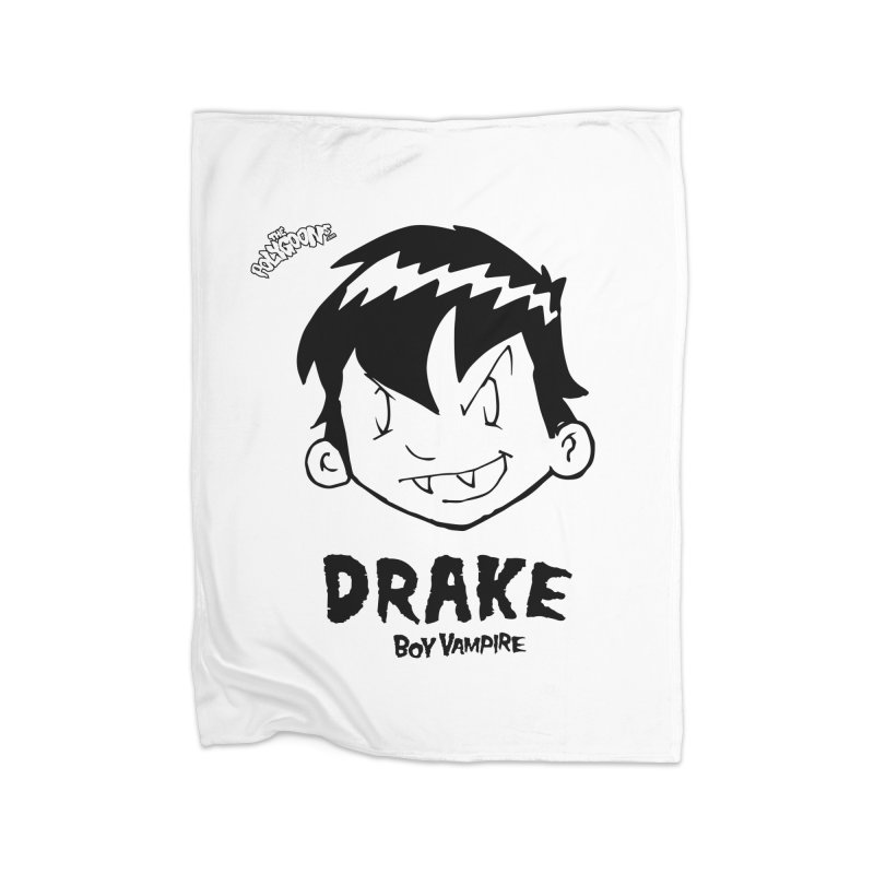 Drake - Boy Vampire  Home Fleece Blanket Blanket by The Polygoons' Shop