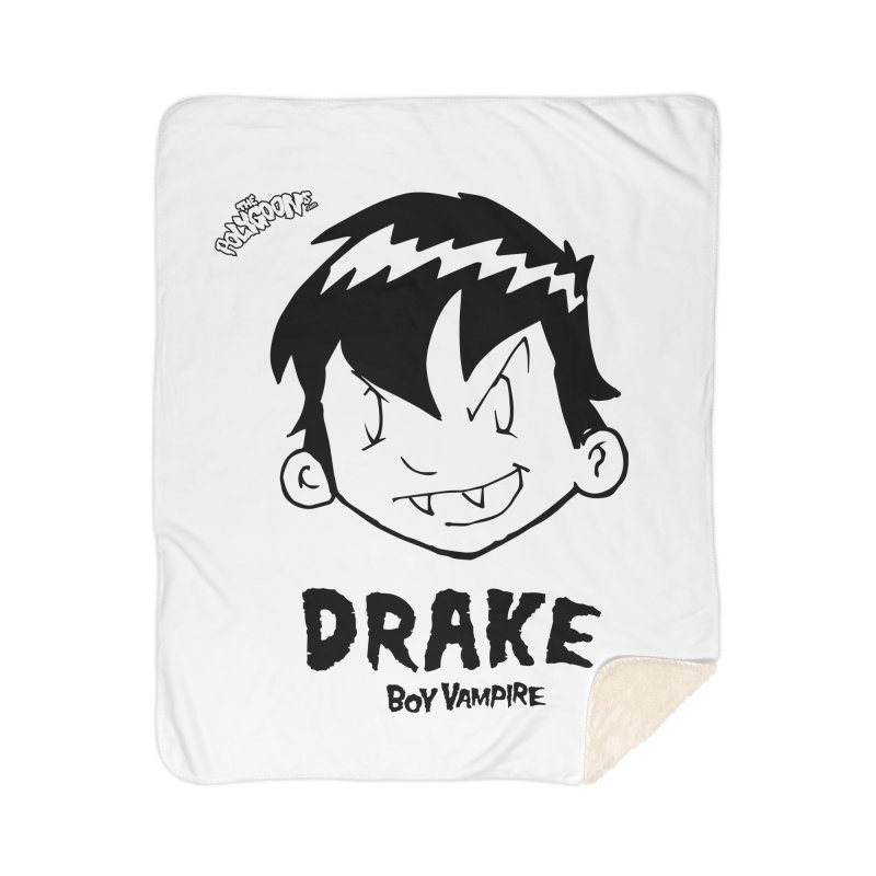 Drake - Boy Vampire  Home Sherpa Blanket Blanket by The Polygoons' Shop