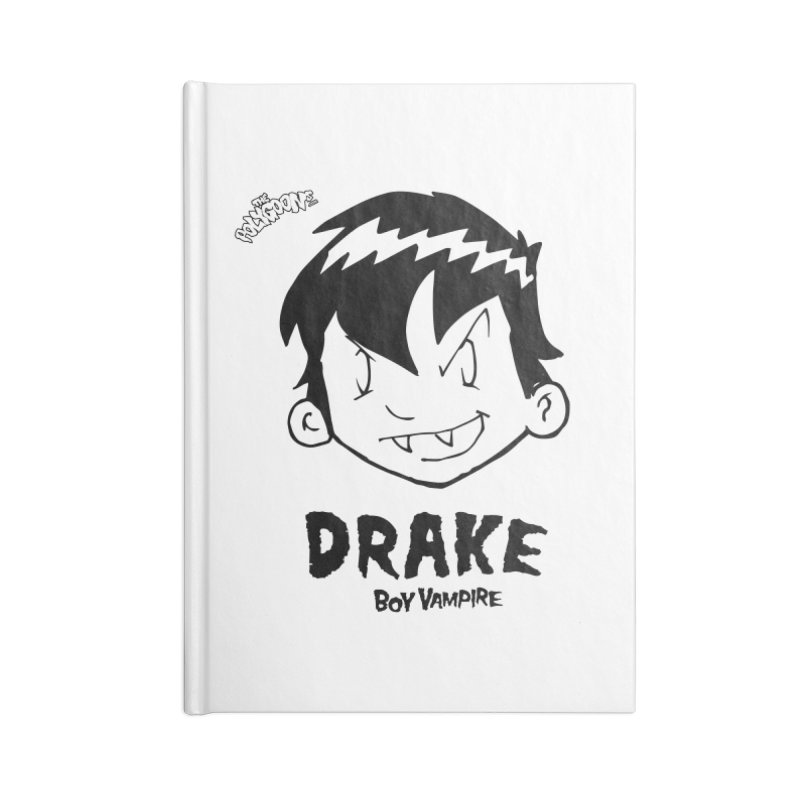 Drake - Boy Vampire  Accessories Lined Journal Notebook by The Polygoons' Shop