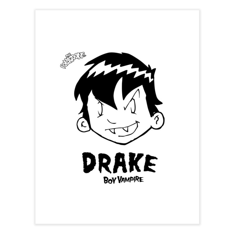 Drake - Boy Vampire  Home Fine Art Print by The Polygoons' Shop