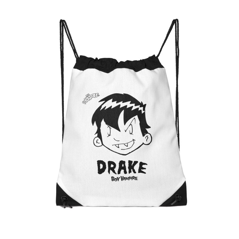 Drake - Boy Vampire  Accessories Drawstring Bag Bag by The Polygoons' Shop