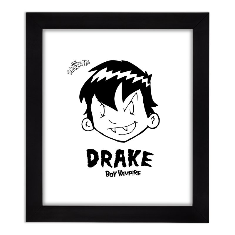 Drake - Boy Vampire  Home Framed Fine Art Print by The Polygoons' Shop