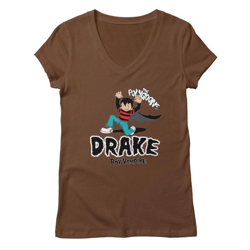 Drake Creepin' Women's Regular V-Neck by The Polygoons' Shop