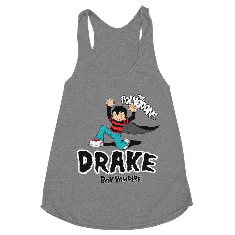 Drake Creepin' Women's Racerback Triblend Tank by The Polygoons' Shop