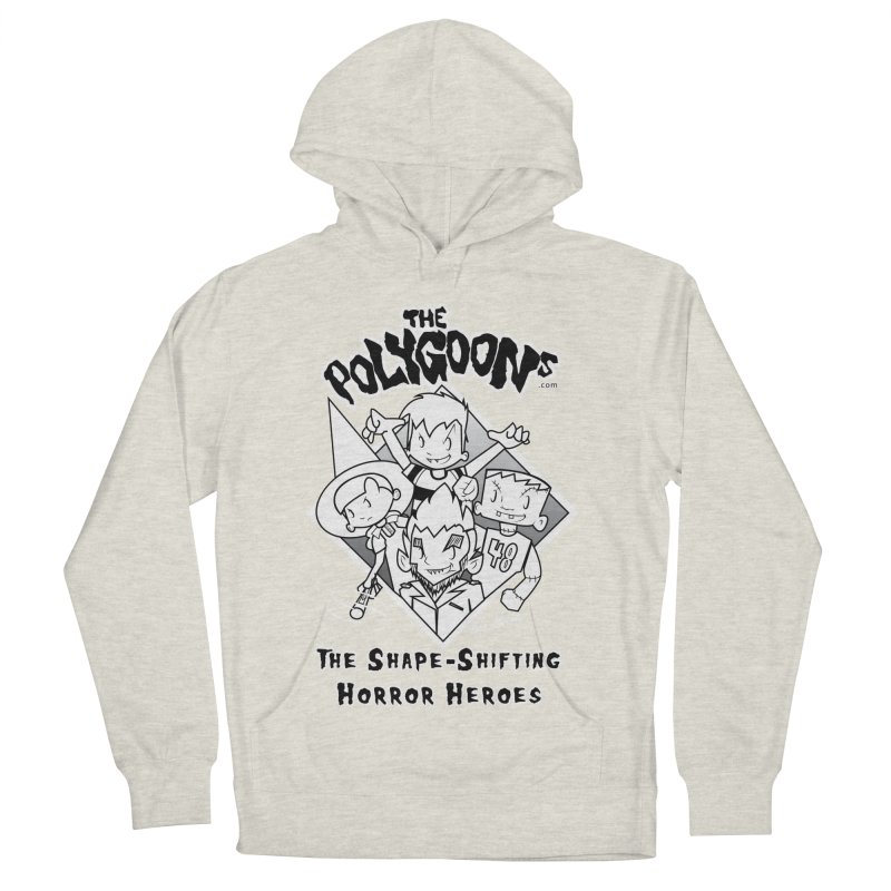 Polygoons Group - black outline Women's French Terry Pullover Hoody by The Polygoons' Shop
