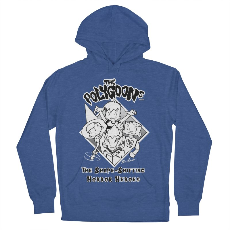 Polygoons Group - black outline Men's French Terry Pullover Hoody by The Polygoons' Shop