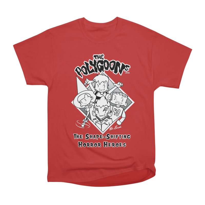 Polygoons Group - black outline Women's Heavyweight Unisex T-Shirt by The Polygoons' Shop