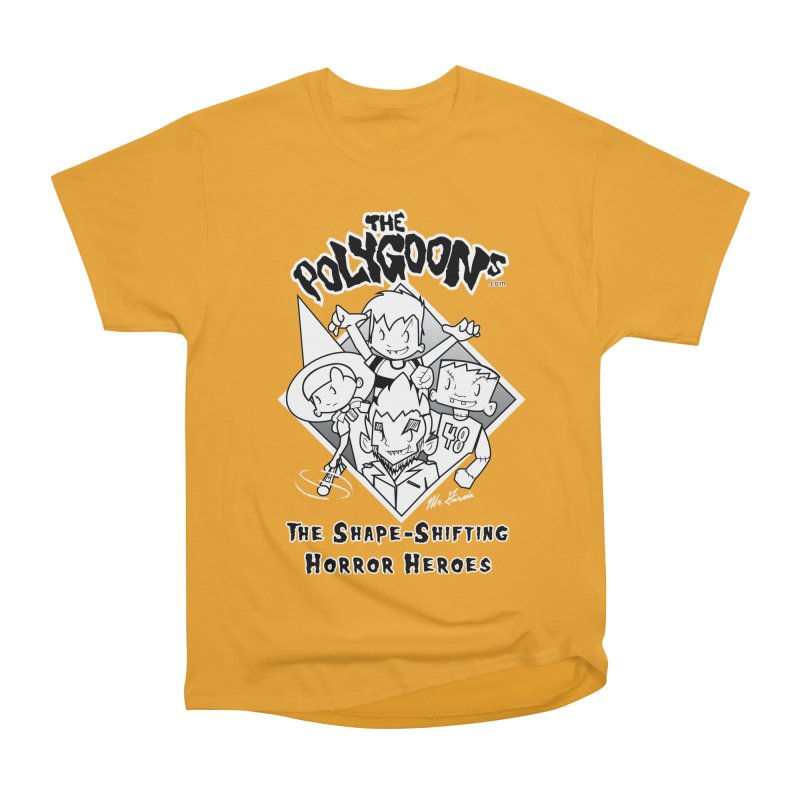 Polygoons Group - black outline Men's Heavyweight T-Shirt by The Polygoons' Shop
