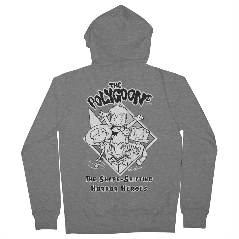 Polygoons Group - black outline Women's French Terry Zip-Up Hoody by The Polygoons' Shop