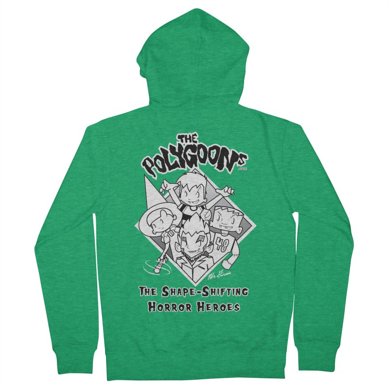Polygoons Group - black outline Men's Zip-Up Hoody by The Polygoons' Shop