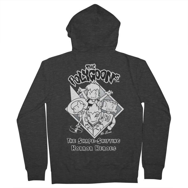 Polygoons Group - black outline Men's French Terry Zip-Up Hoody by The Polygoons' Shop