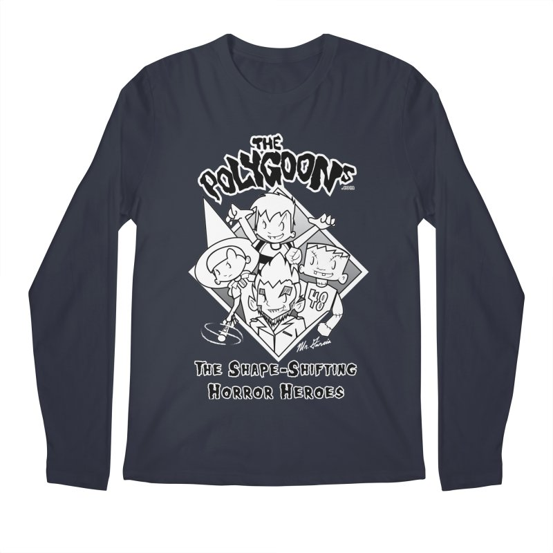 Polygoons Group - black outline Men's Regular Longsleeve T-Shirt by The Polygoons' Shop
