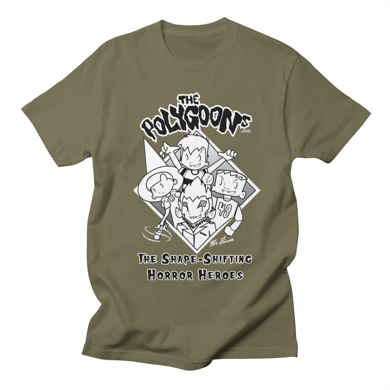 Polygoons Group - black outline Men's Regular T-Shirt by The Polygoons' Shop