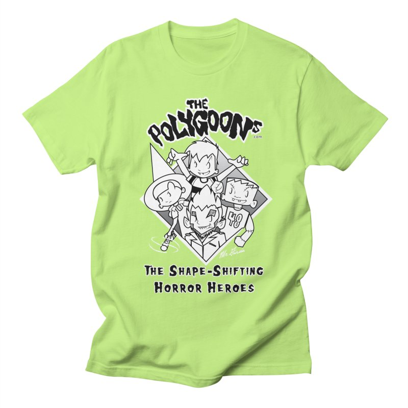 Polygoons Group - black outline Women's Regular Unisex T-Shirt by The Polygoons' Shop