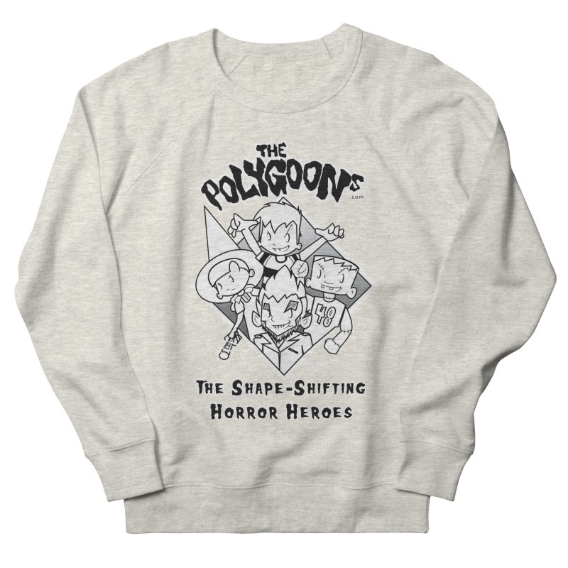 Polygoons Group - black outline Women's French Terry Sweatshirt by The Polygoons' Shop