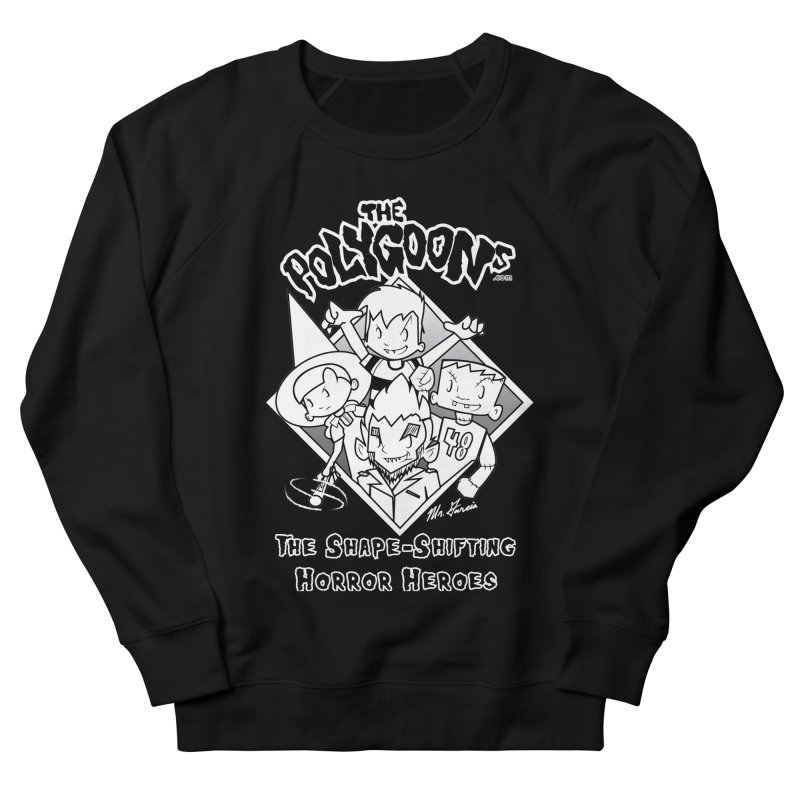 Polygoons Group - black outline Men's French Terry Sweatshirt by The Polygoons' Shop