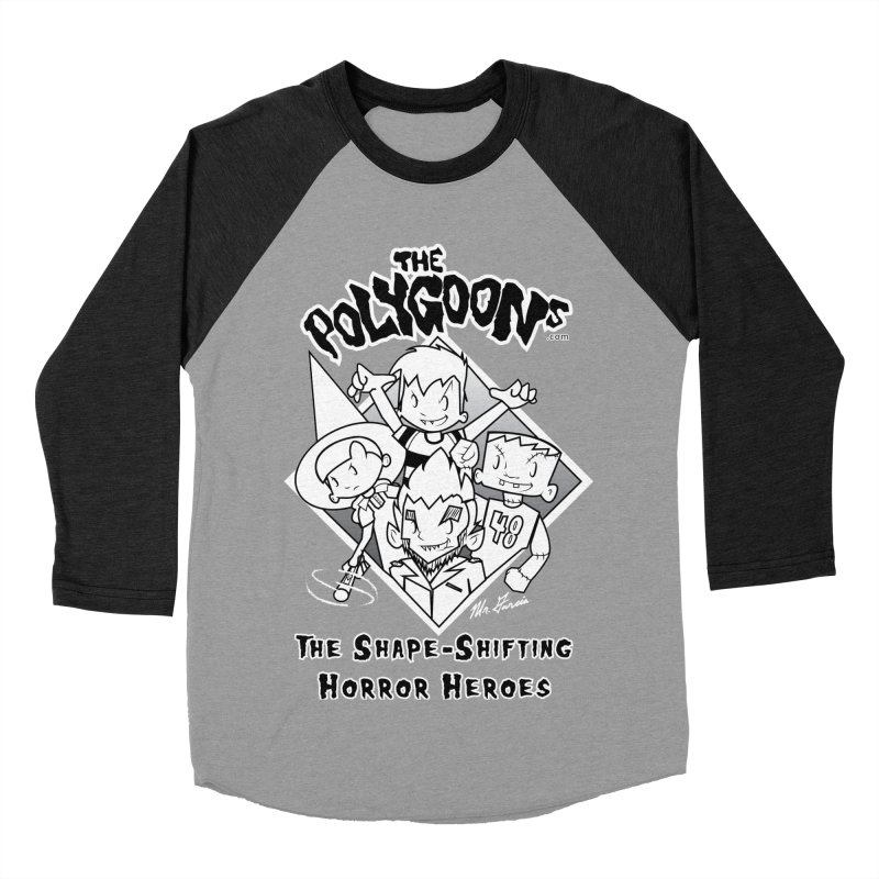 Polygoons Group - black outline Men's Baseball Triblend Longsleeve T-Shirt by The Polygoons' Shop