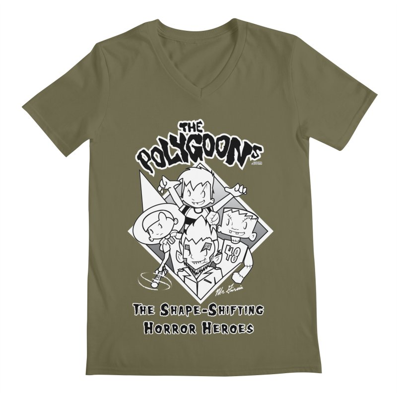 Polygoons Group - black outline Men's Regular V-Neck by The Polygoons' Shop