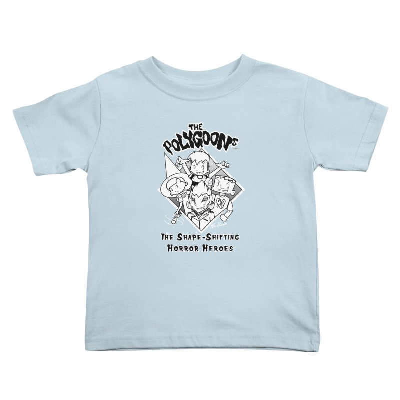 Polygoons Group - black outline Kids Toddler T-Shirt by The Polygoons' Shop