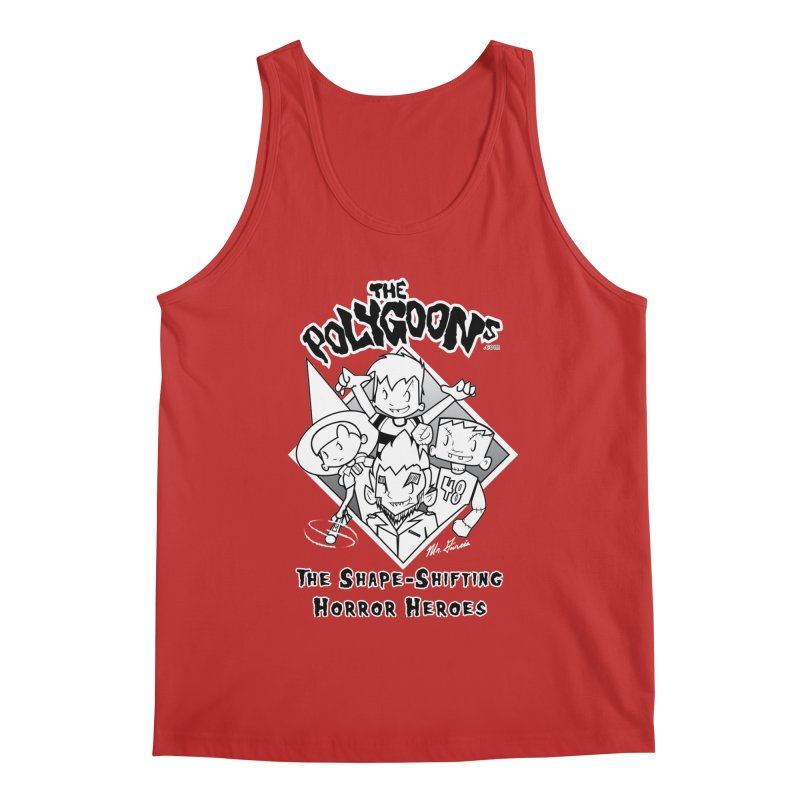 Polygoons Group - black outline Men's Regular Tank by The Polygoons' Shop