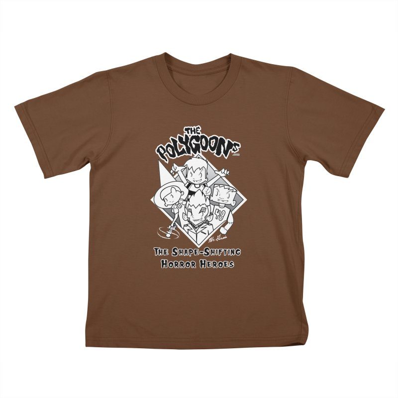 Polygoons Group - black outline Kids T-Shirt by The Polygoons' Shop
