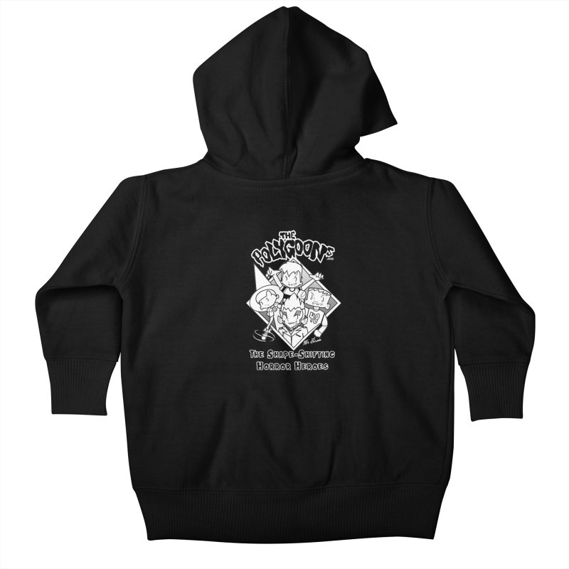 Polygoons Group - black outline Kids Baby Zip-Up Hoody by The Polygoons' Shop