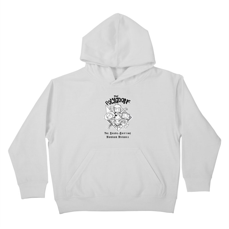 Polygoons Group - black outline Kids Pullover Hoody by The Polygoons' Shop