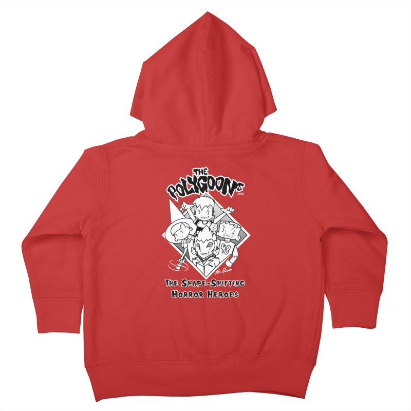 Polygoons Group - black outline Kids Toddler Zip-Up Hoody by The Polygoons' Shop