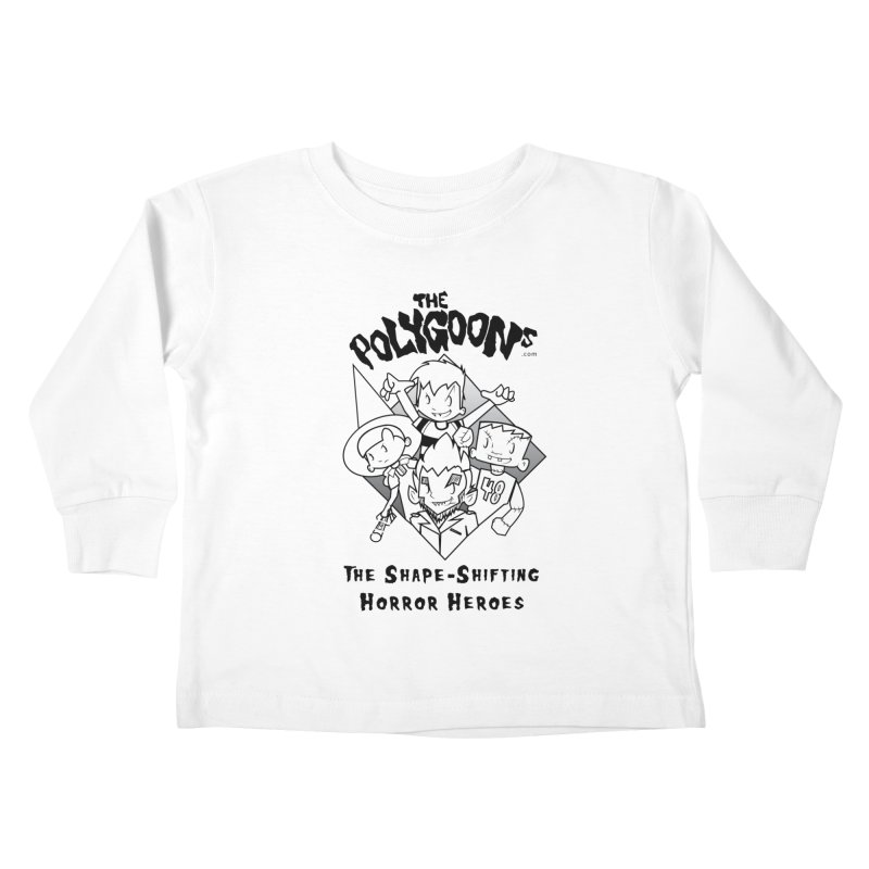 Polygoons Group - black outline Kids Toddler Longsleeve T-Shirt by The Polygoons' Shop