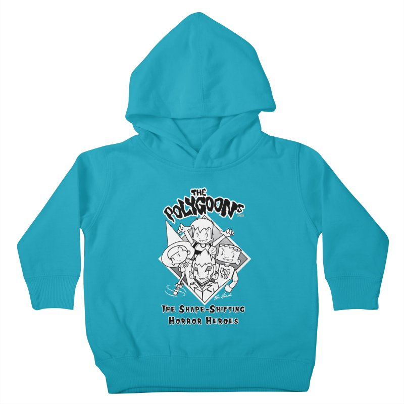 Polygoons Group - black outline Kids Toddler Pullover Hoody by The Polygoons' Shop