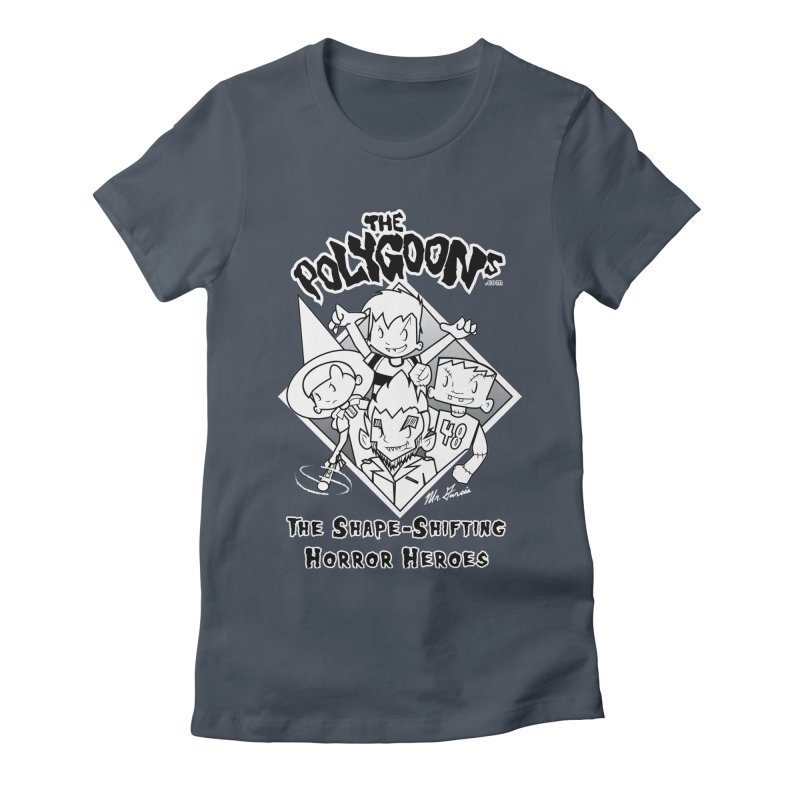 Polygoons Group - black outline Women's Fitted T-Shirt by The Polygoons' Shop
