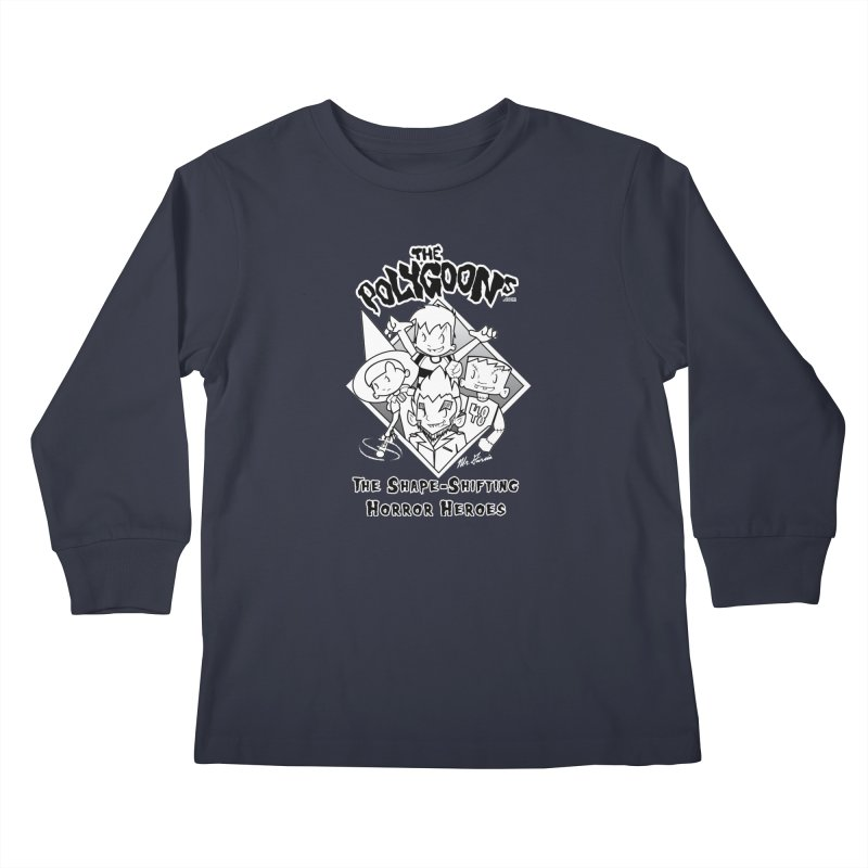 Polygoons Group - black outline Kids Longsleeve T-Shirt by The Polygoons' Shop