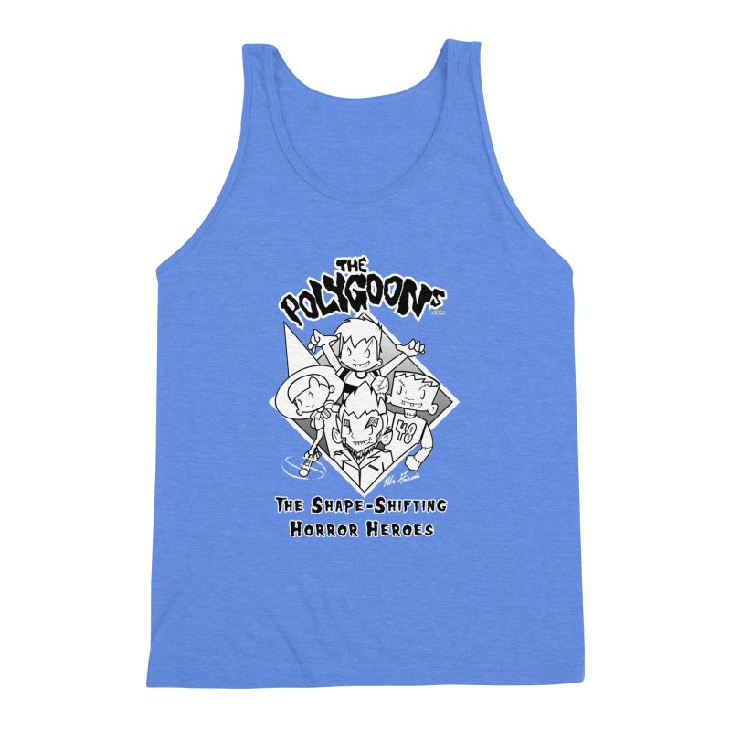 Polygoons Group - black outline Men's Triblend Tank by The Polygoons' Shop
