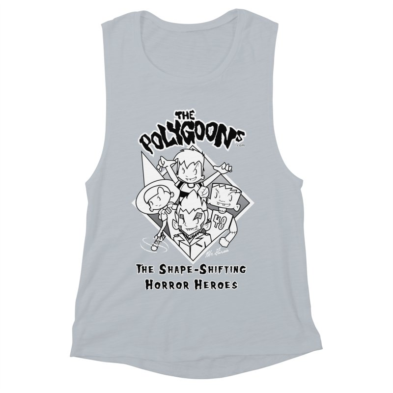 Polygoons Group - black outline Women's Muscle Tank by The Polygoons' Shop