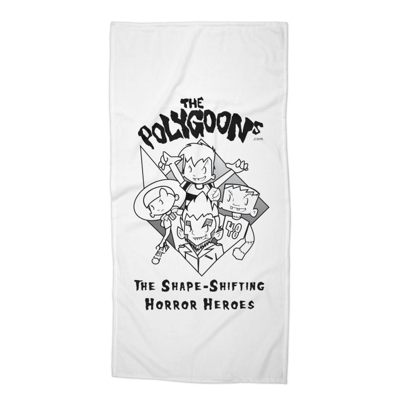 Polygoons Group - black outline Accessories Beach Towel by The Polygoons' Shop