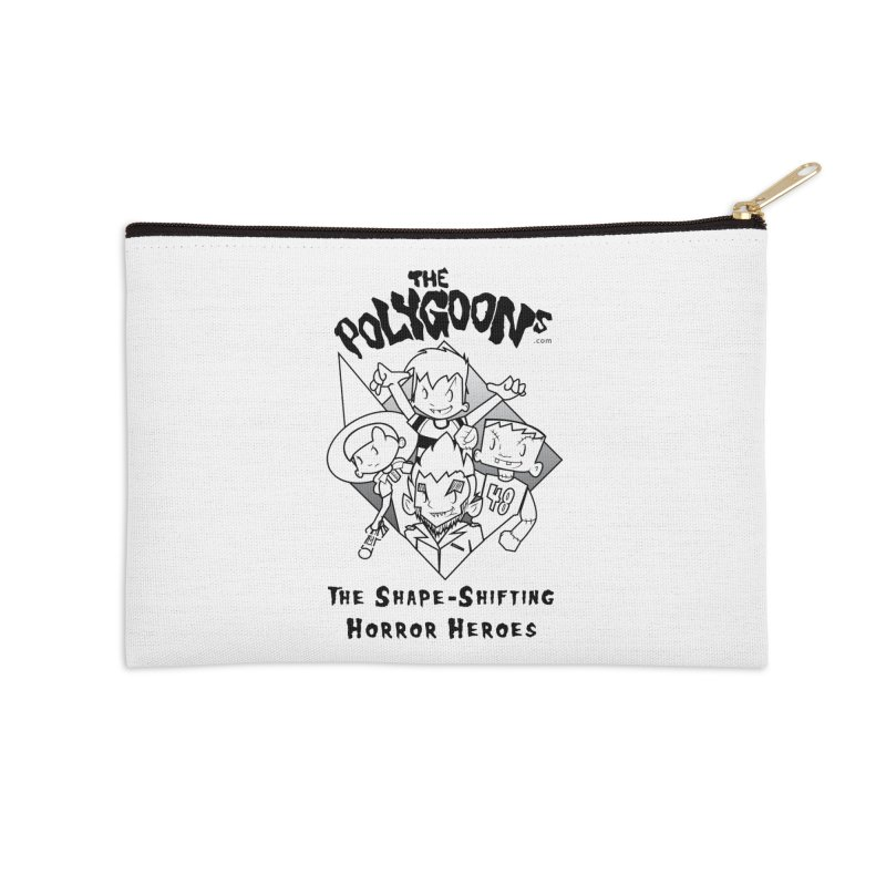 Polygoons Group - black outline Accessories Zip Pouch by The Polygoons' Shop