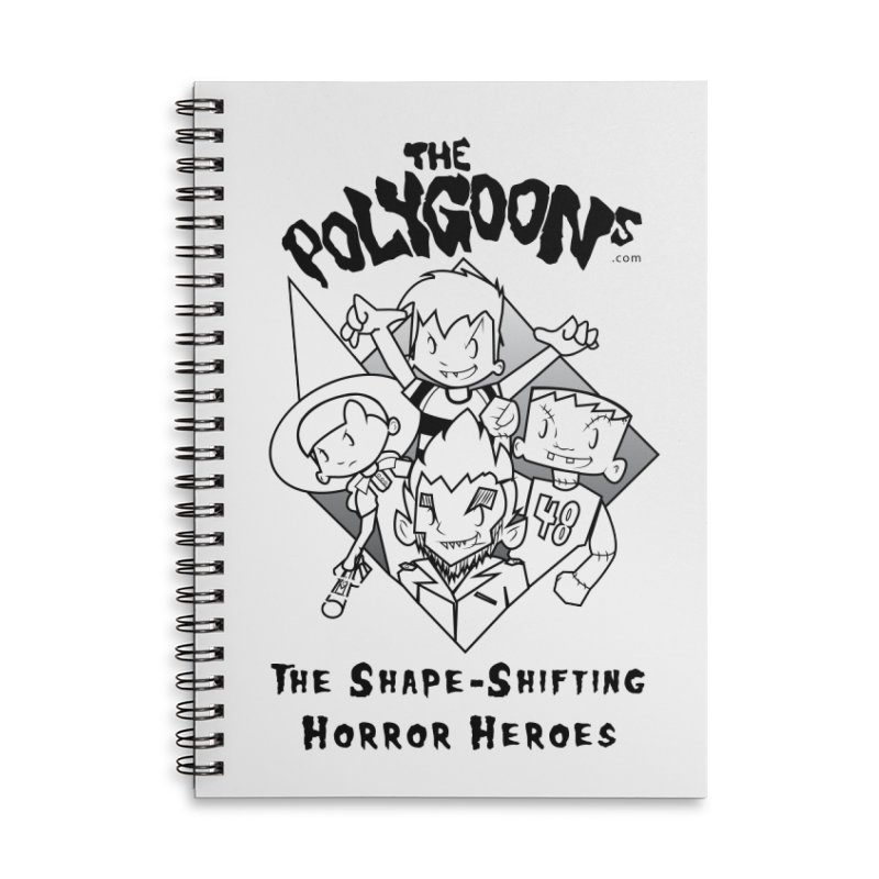 Polygoons Group - black outline Accessories Lined Spiral Notebook by The Polygoons' Shop