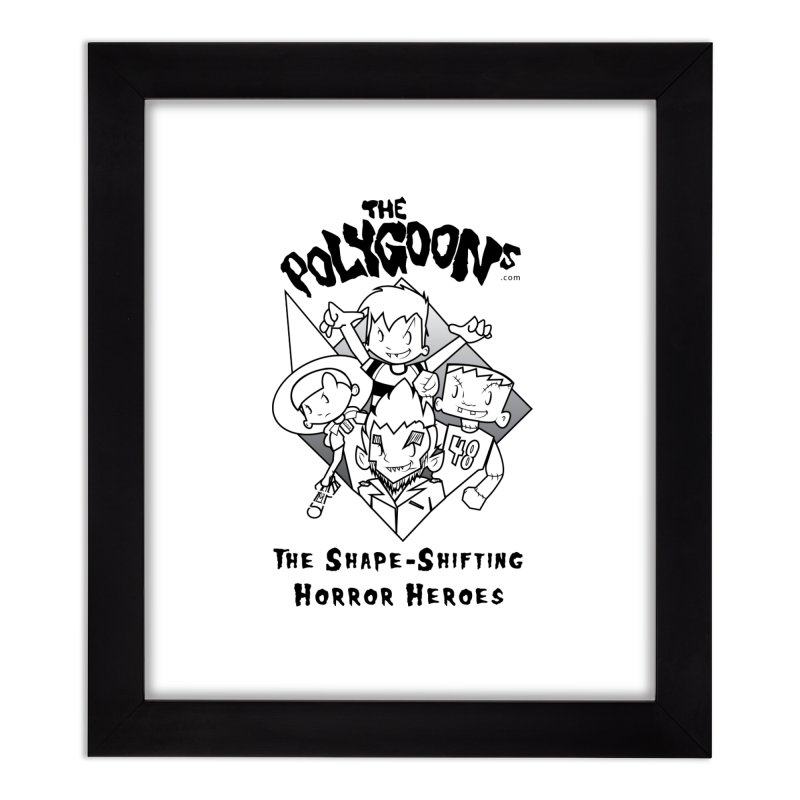 Polygoons Group - black outline Home Framed Fine Art Print by The Polygoons' Shop