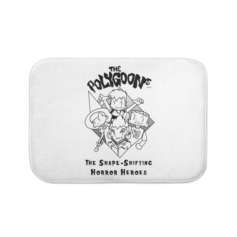 Polygoons Group - black outline Home Bath Mat by The Polygoons' Shop